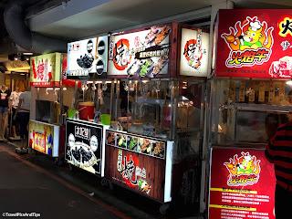 Street food quartier de Ximending, district de Wanhua à Taipei, Taiwan
