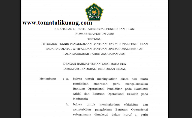 Download Juknis BOS Madrasah Tahun 2021 PDF (Resmi)
