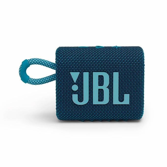 Caixa de Som JBL GO3 Bluetooth À Prova d'Agua e Poeira 4,2W RMS Azul - JBLGO3BLU
