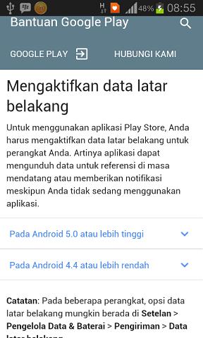 Cara Aktifkan Dan Non Aktifkan Data Latar Belakang Google