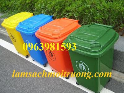Cung cấp thùng rác 60 lít, thùng rác Composite, thùng rác công cộng giá rẻ