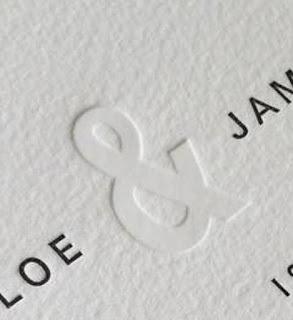 invitación letterpress