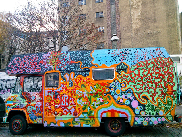 Furgoneta Street Art en Kreuzberg