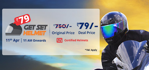 (Next Sale) Droom.in – Get Helmet at Rs 49 only on 11th April at 11:00am