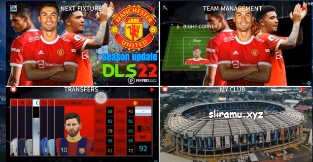 DLS 22 Mod Manchester United New Update Kit & Transfer Pemain 2021/2022