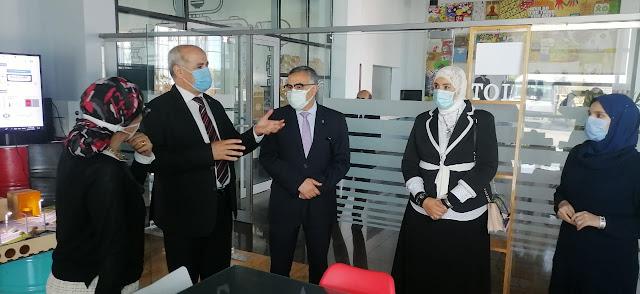 رئيس جامعة الفيوم في زيارة للمعهد القومي لتكنولوجيا المعلومات