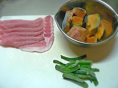 煮物の材料