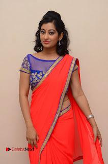 Actress Tejaswini Pictures in Saree at Pratikshanam Audio Launch  0039