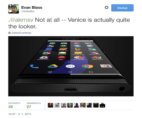 هاتف Blackberry Venice