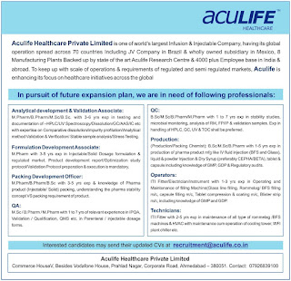 Opening in Aculife