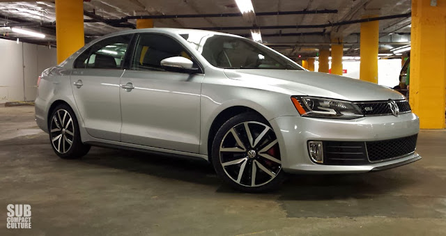 2014 VW Jetta GLI Autobahn in a parking garage