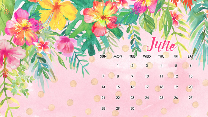 June Desktop Calendar