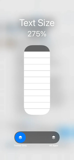 How to change your iPhone's text size for a specific app