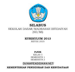 Silabus PJOK Kelas 5 SD/MI Semester 1&2 K13 Revisi 2021