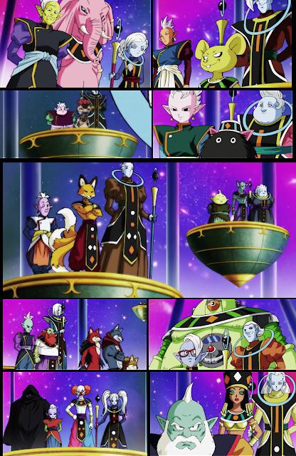 Los Supremos Kaioshins, Dioses de la Destrucción y sus ángeles de los otros 10 universos existentes.