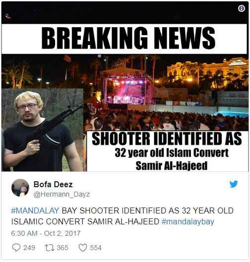 Vegas shooting fake news