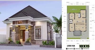 Denah Rumah 10x15 1 Lantai 3 Kamar Tidur Desain Rumah Minimalis