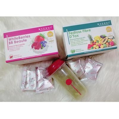 kitsui, produk kitsui, kitsui whiteberries bb beaute, kitsui fedloss fibre dtox, produk kitsui best,