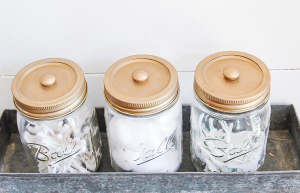Decorative Mason Jar bathroom Storage  Little House of