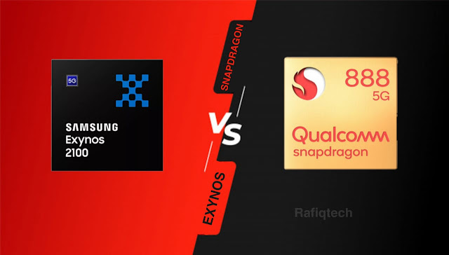 مقارنة بين معالج سناب دراجون Snapdragon 888  و إكسينوسExynos 2100 :أيهما الأقوى والأفضل