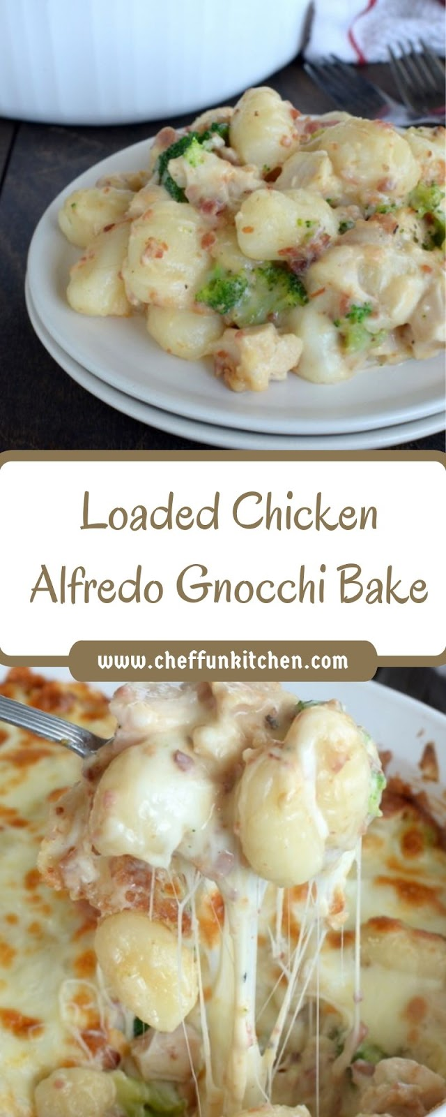 Loaded Chicken Alfredo Gnocchi Bake