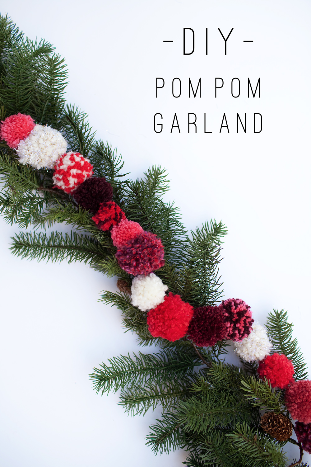 Tell Diy Christmas Pom Pom Garland Tell Love And Party