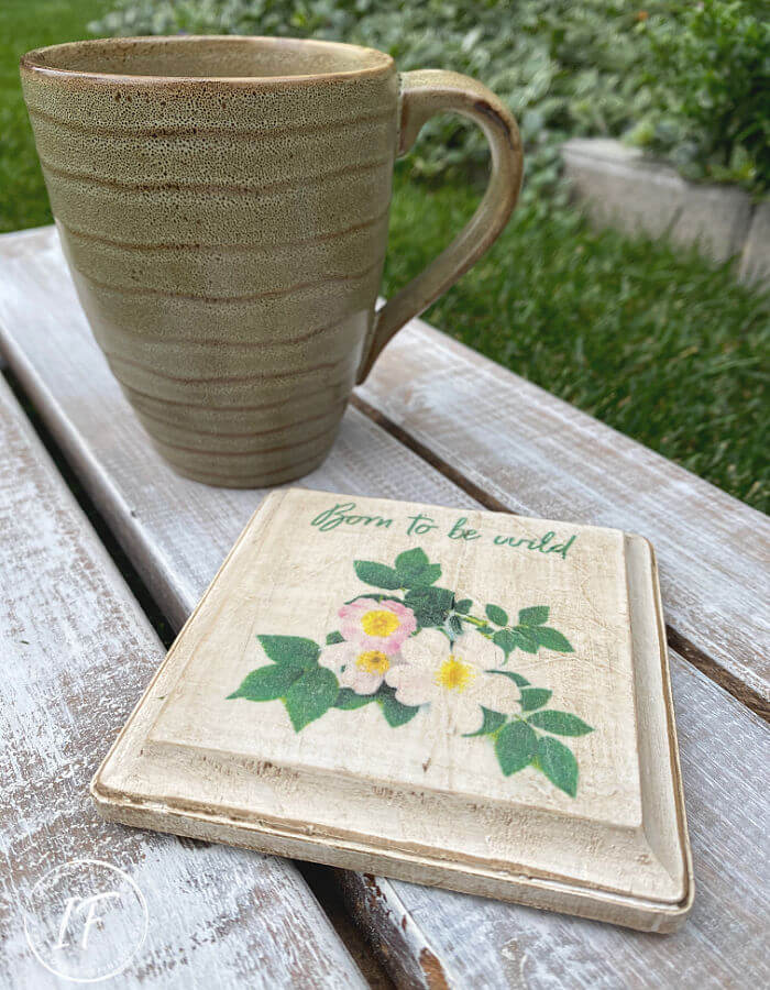 Wild Rose Wood Coaster DIY