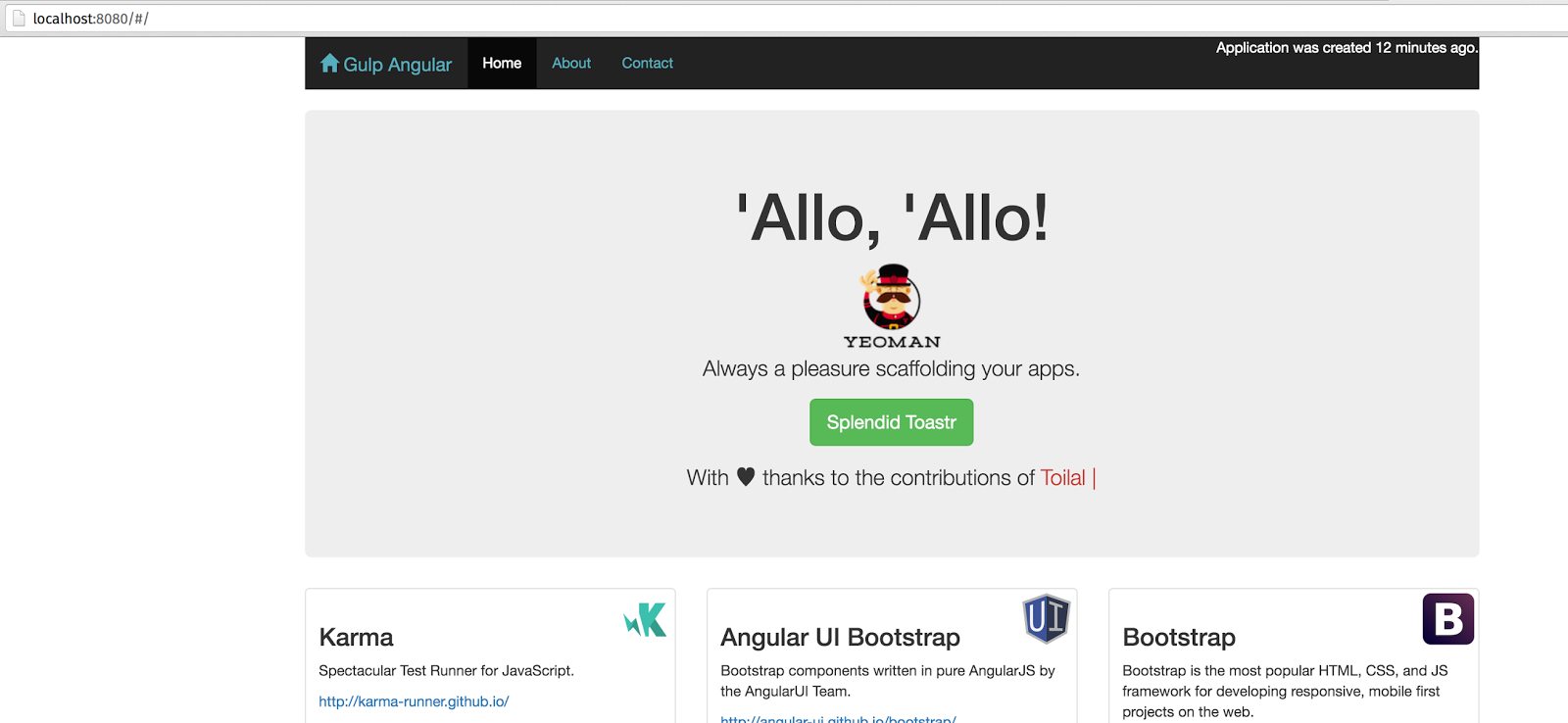all and sundry: Single Page Angularjs application with