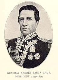 Retrato de Andrés de Santa Cruz en grises