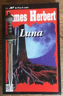 Portada del libro Luna, de James Herbert