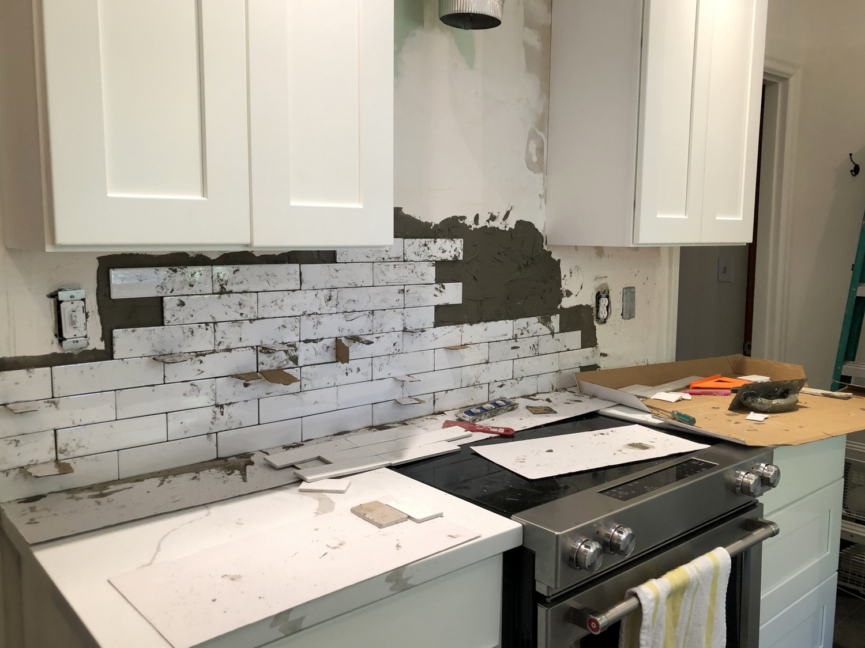 unique handmade look tile backsplash
