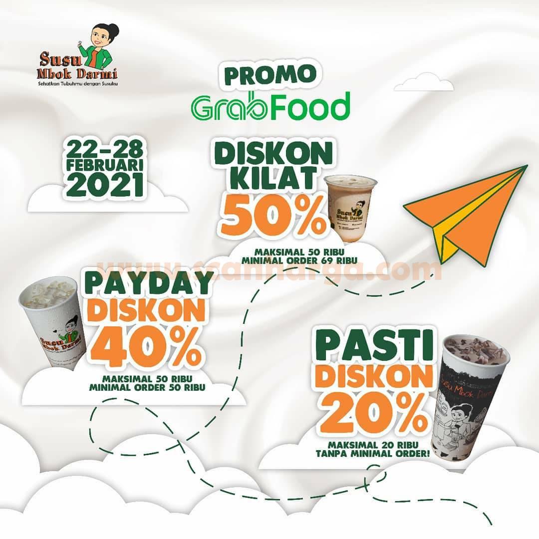 Susu Mbok Darmi Promo Diskon Kilat Up To 50% Via Grabfood