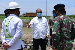 Akhyar Nasution Tinjau Progress Pembangunan Waduk di Tanjung Mulia Hilir