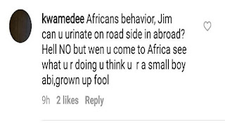 Jim Iyke Goes After a follower That called him a fool for urinating by the roadside