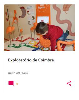 A nossa visita ao Exploratório de Coimbra em Maio de 2018