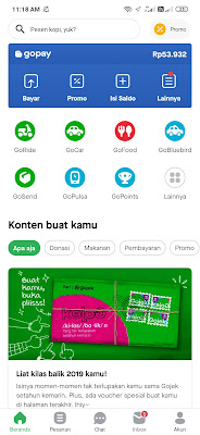 Bukti Pembayaran Saldo Gopay dari Aplikasi Kakaopage Android