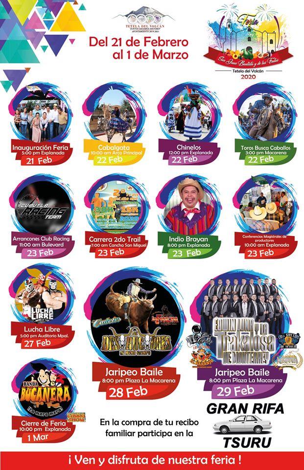 Feria Tetela del Volcán 2020 Feria de San Juan Bautista