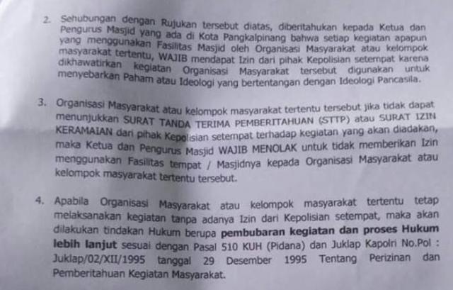 Polisi Keluarkan Syarat Izin Kegiatan di Masjid, Eggi: Ini Diktator Namanya