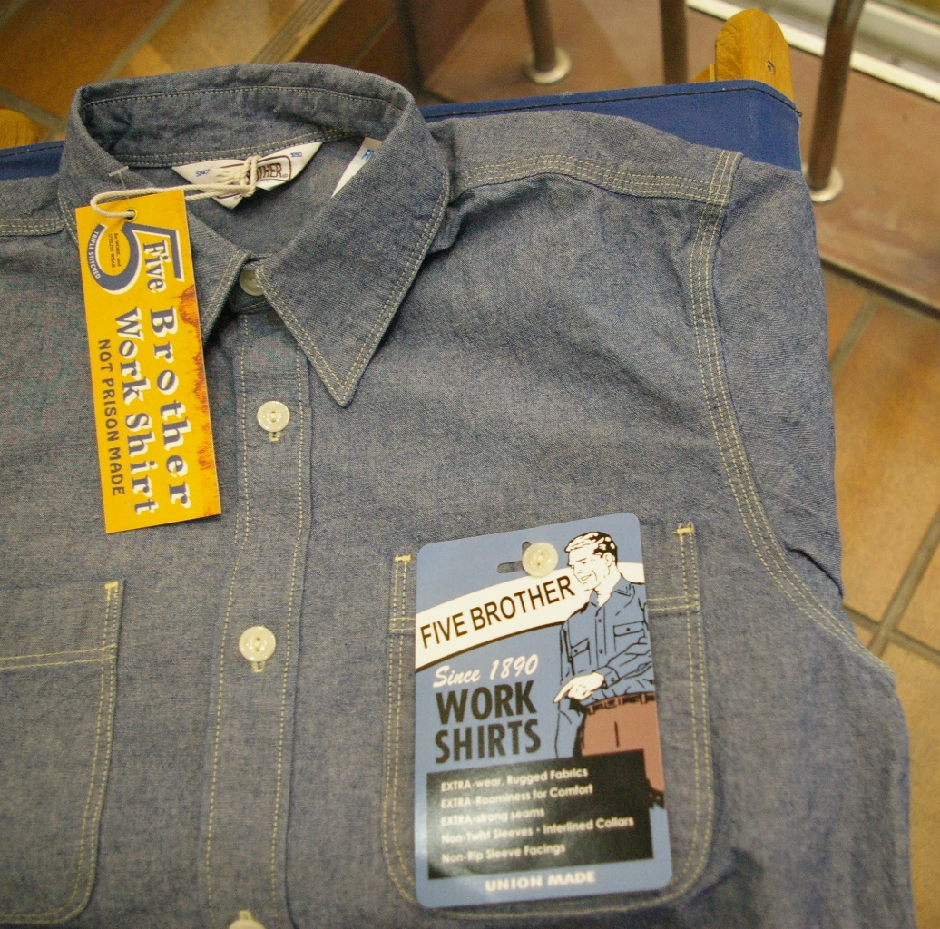 Life Store Freedom Five Brother Chambray Work Shirt