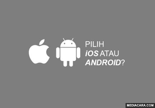 Pilih iOS atau Android