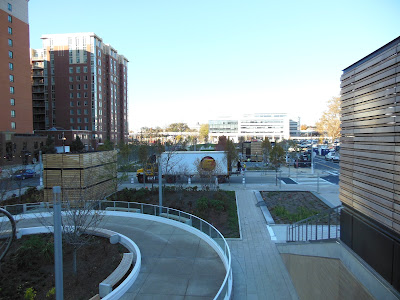 Development photos of Washington DC, Canal Park debuts its ice skating rink and green features