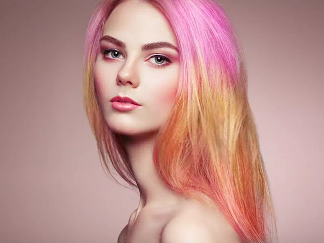 Pink Red Ombre Hairstyle