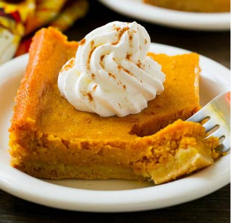 PUMPKIN GOOEY BUTTER CAKE #dessert #cake