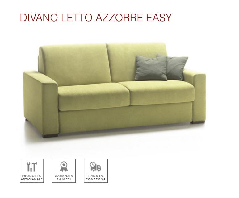 Nuovo divano letto azzorre easy con materasso alto cm 18 tino mariani - Divano letto con materasso alto ...