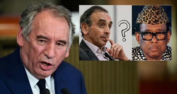 """""""Choqué"""" par """"l'obsession sur l'identité et les prénoms"""", Bayrou compare Zemmour à Mobutu"""