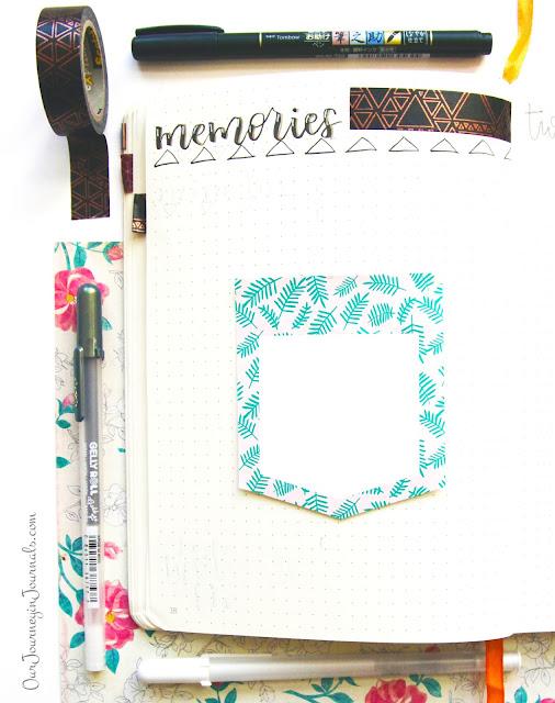 December blank bullet journal monthly memories spread