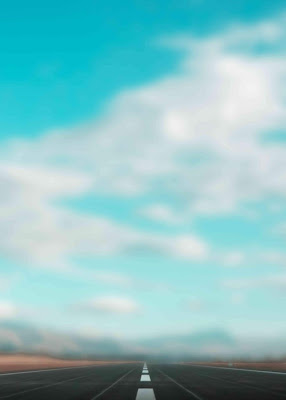 Blue HD Sky With Road Blur Background Stock