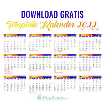 Template Kalender 2022 Vector cdr