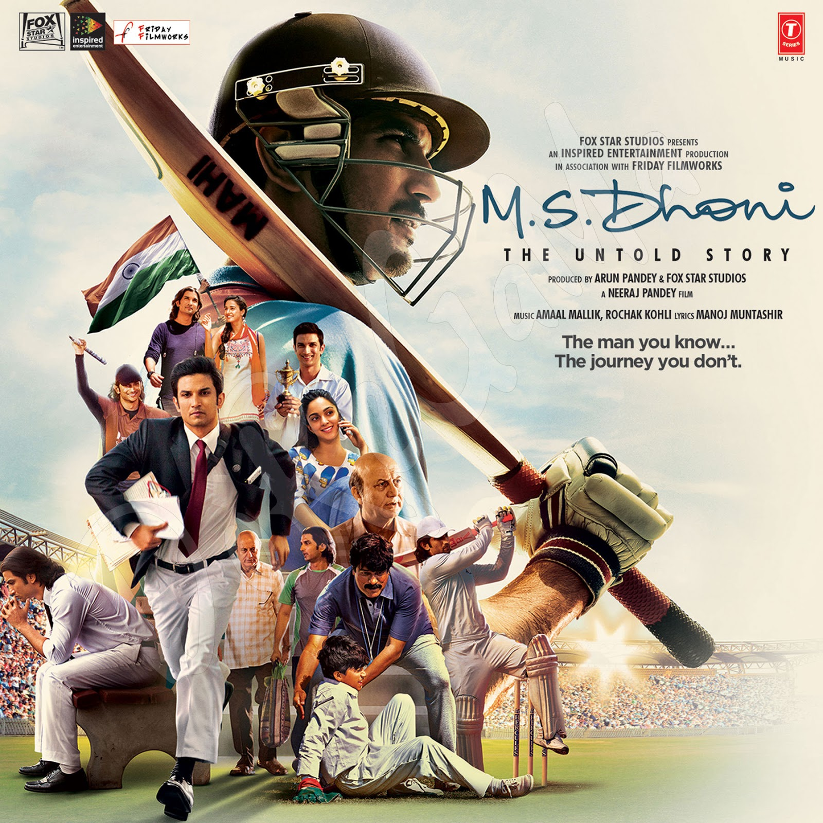 M.S. Dhoni 2016 Movie Songs CD Front Cover Poster wallpaper HD