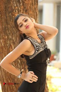 Actress Poojitha Pallavi Naidu Stills in Black Short Dress at Inkenti Nuvve Cheppu Movie Platinum Disc Function  0098.JPG